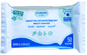 Lingettes désinfectantes multi-usages - EN 14476